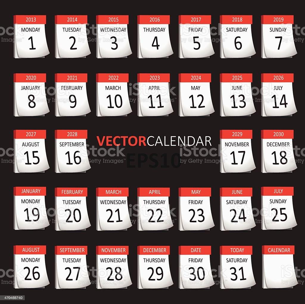 royalty free tear off calendar clip art vector images illustrations istock