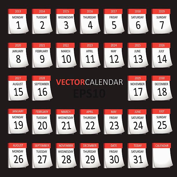 Vektor-Kalender – Vektorgrafik