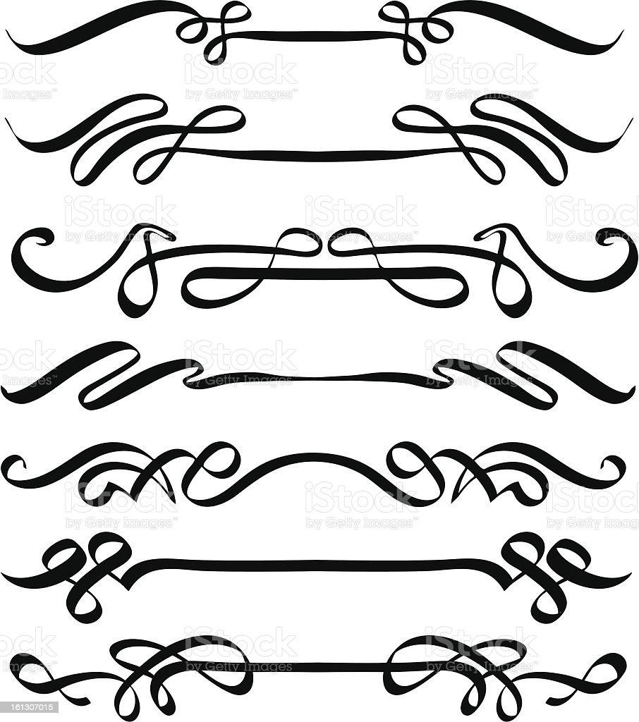 Vector calligraphic flourishes stock art more