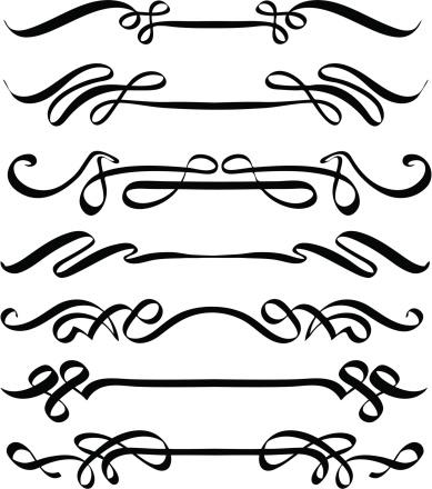 Vector Calligraphic Flourishes