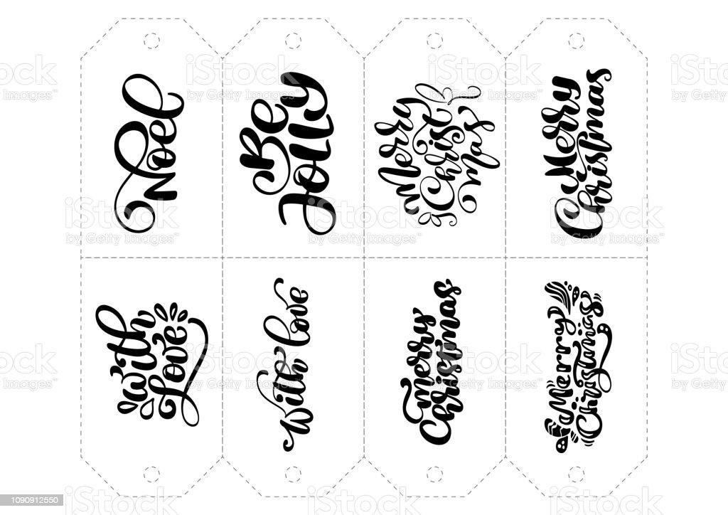 Ilustracion De Conjunto De Frases Para Etiquetas En Vector