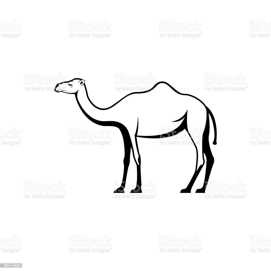 Vector Silueta Camello Vista Lado Para El Retros Símbolos Emblemas ...