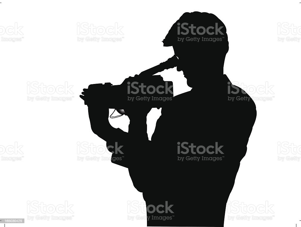 Vector Cameraman Silhouette royalty-free stock vector art
