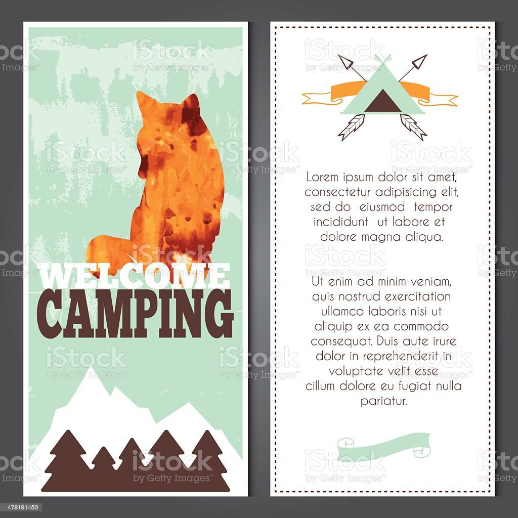 vector camping invitation stock vector art 478191450 istock