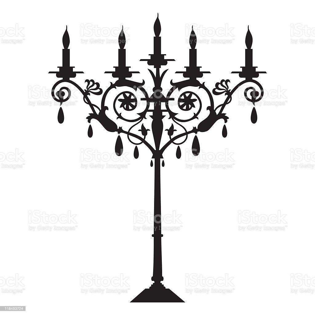 Vector candlestick royalty-free stock vector art