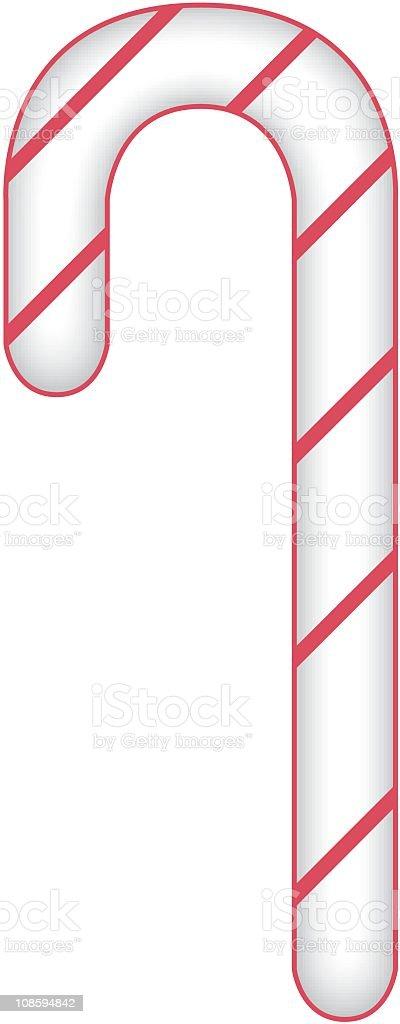 Vector Candy Cane vector art illustration