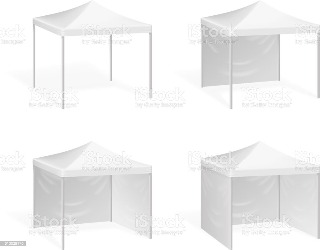 Vector canopy. Pop up tent for outdoor event vector art illustration