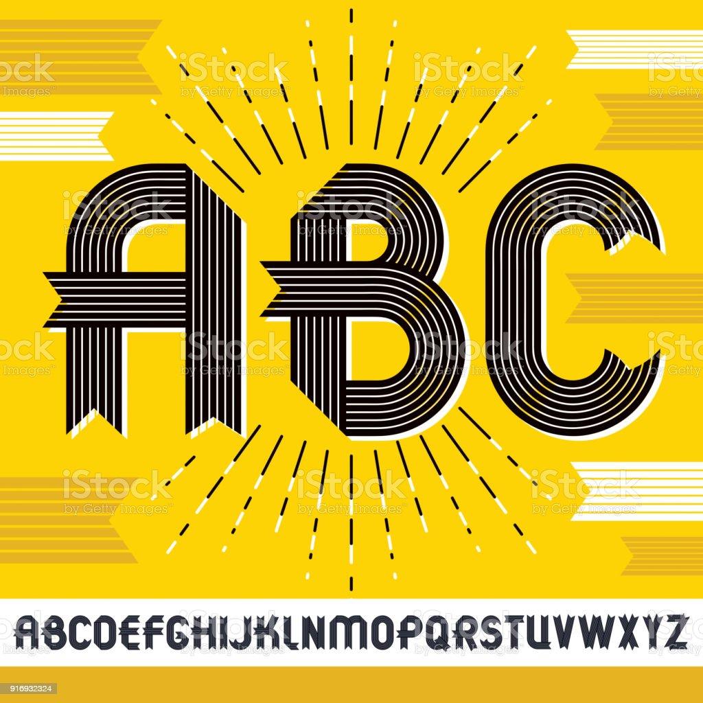 Vector Capital Modern Alphabet Letters Abc Set Trendy Bold Font