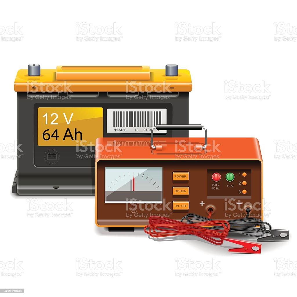 Vektor-Konzept der Batterie – Vektorgrafik