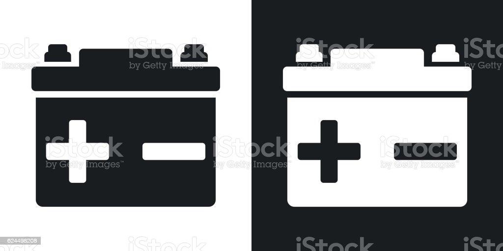 Vector car battery icon. Two-tone version – Vektorgrafik