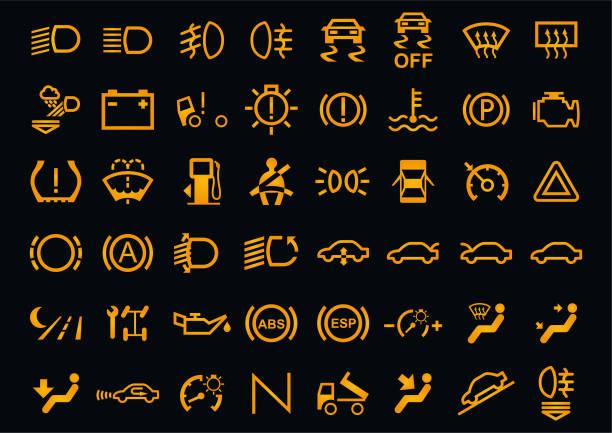 stockillustraties, clipart, cartoons en iconen met vector auto dashboards iconen - dashboard