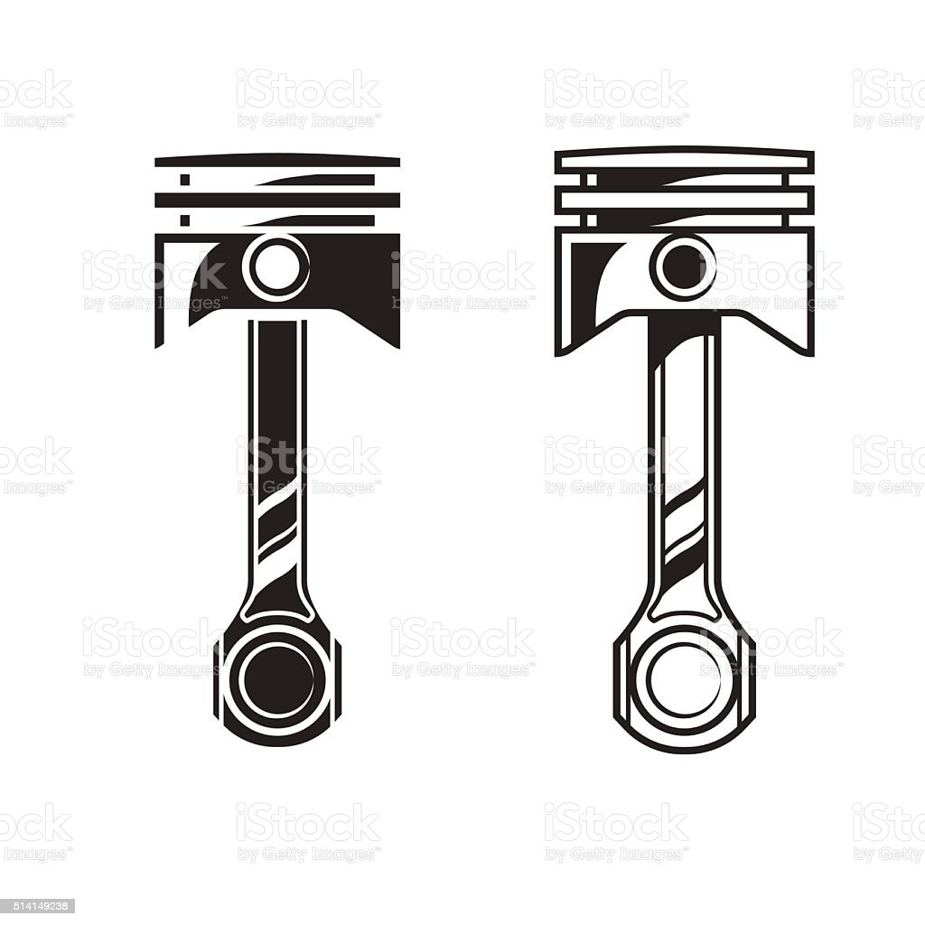 Vector car engine piston vector art illustration