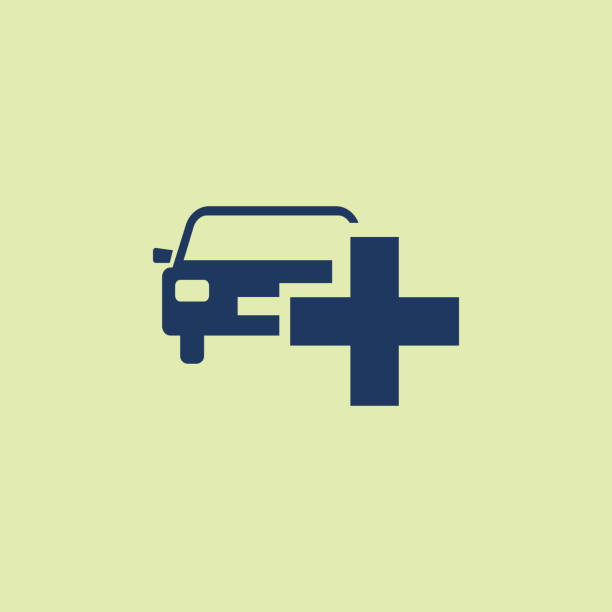 Vector Car Icon With Add Sign Car Icon And New Plus Positive Symbol