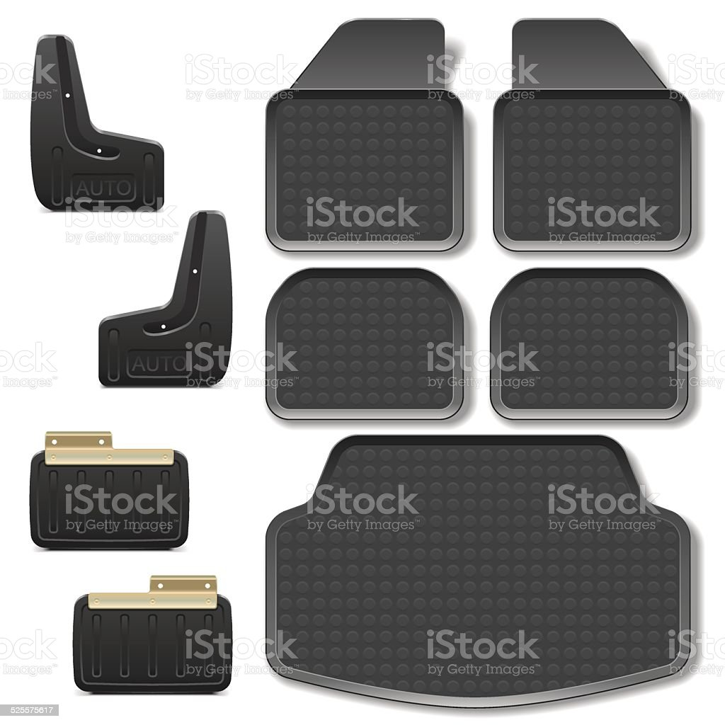 Vector Car Mats set 2 vector art illustration