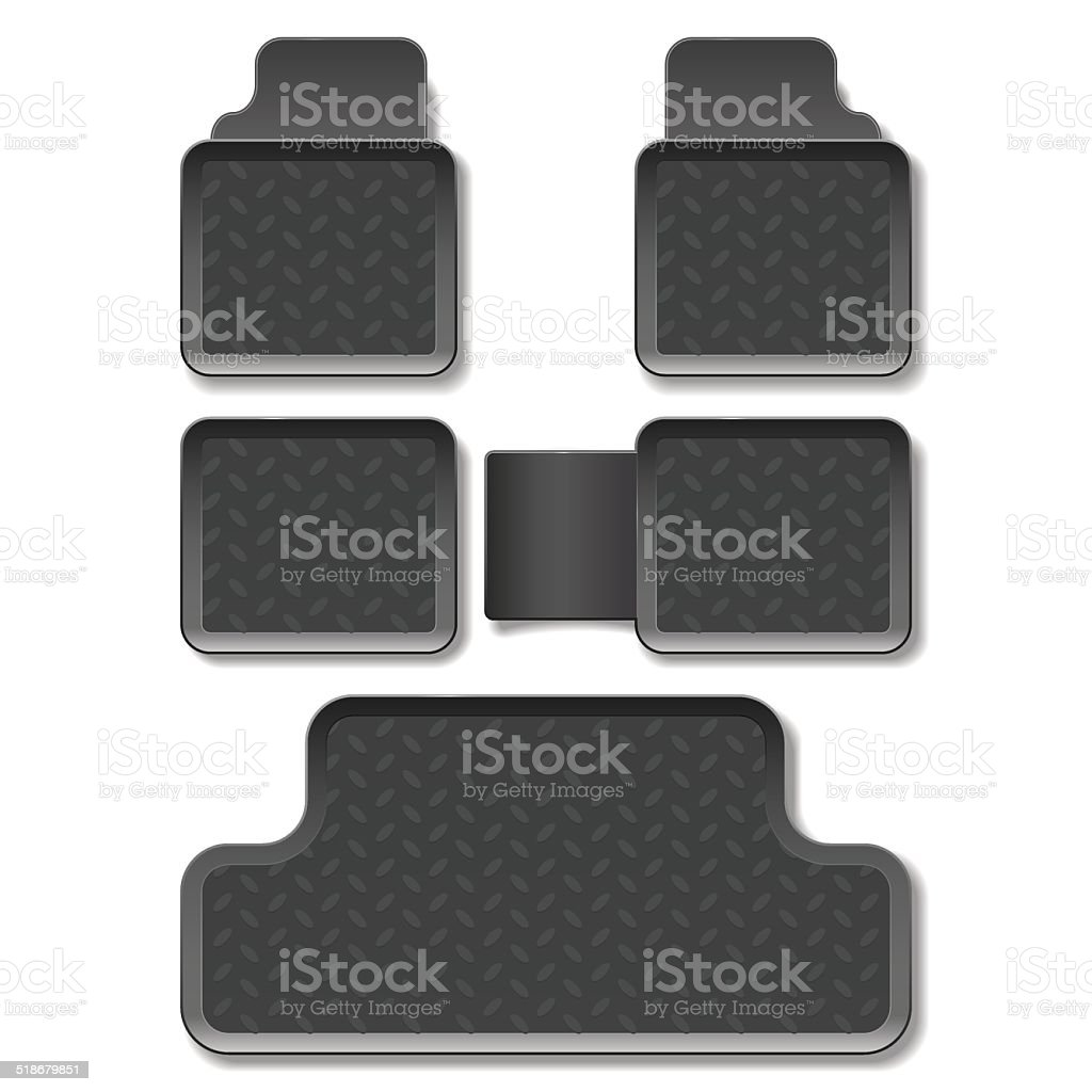 Vector Car Mats vector art illustration