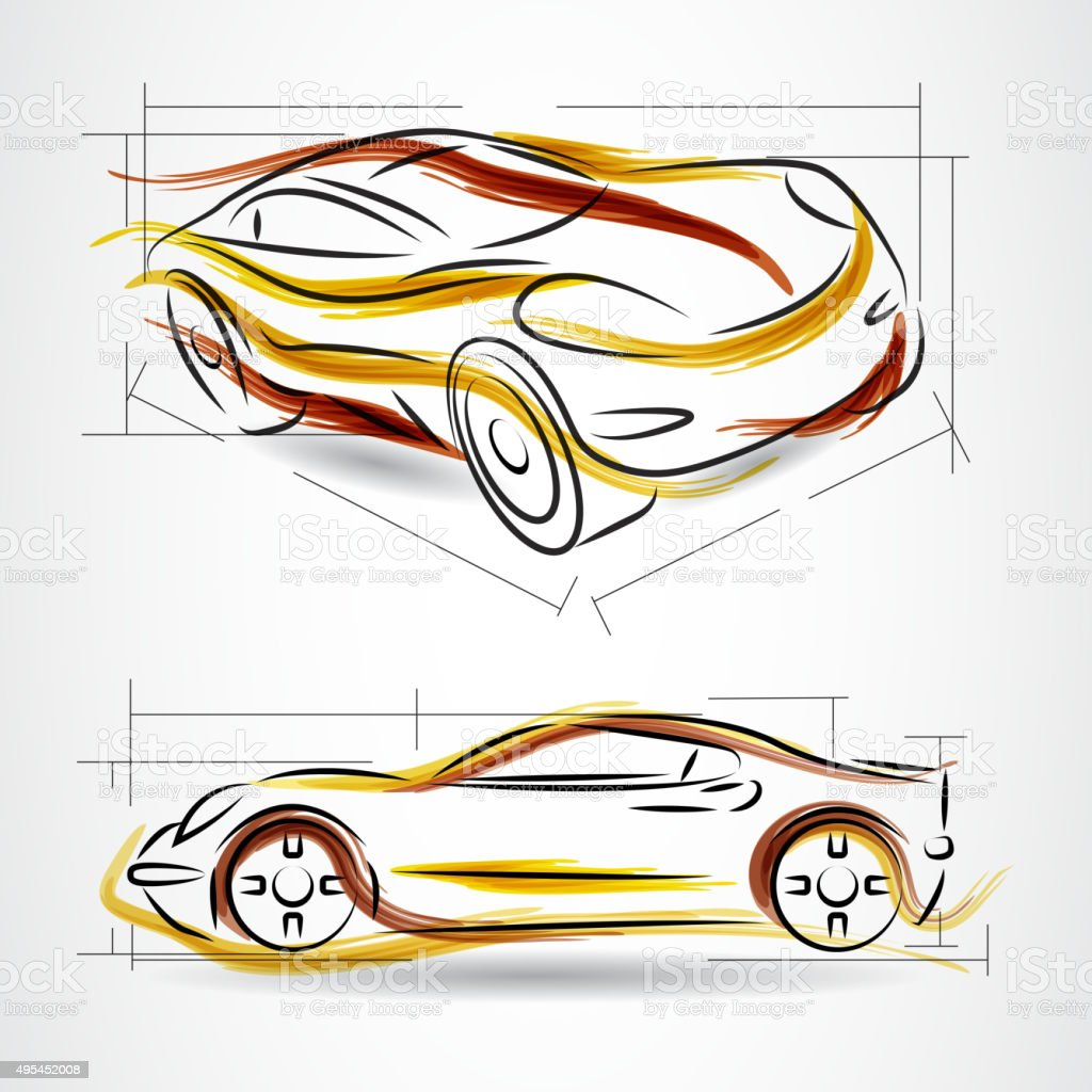 Vector Car project design vector art illustration