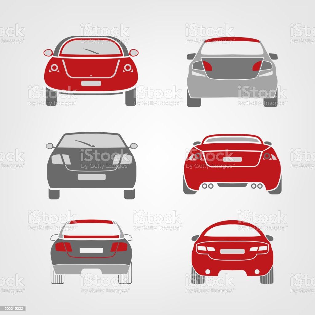 Vector car silhouettes vector art illustration