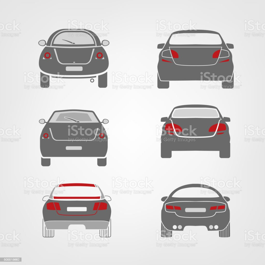 Vector car silhouettes vector art illustration