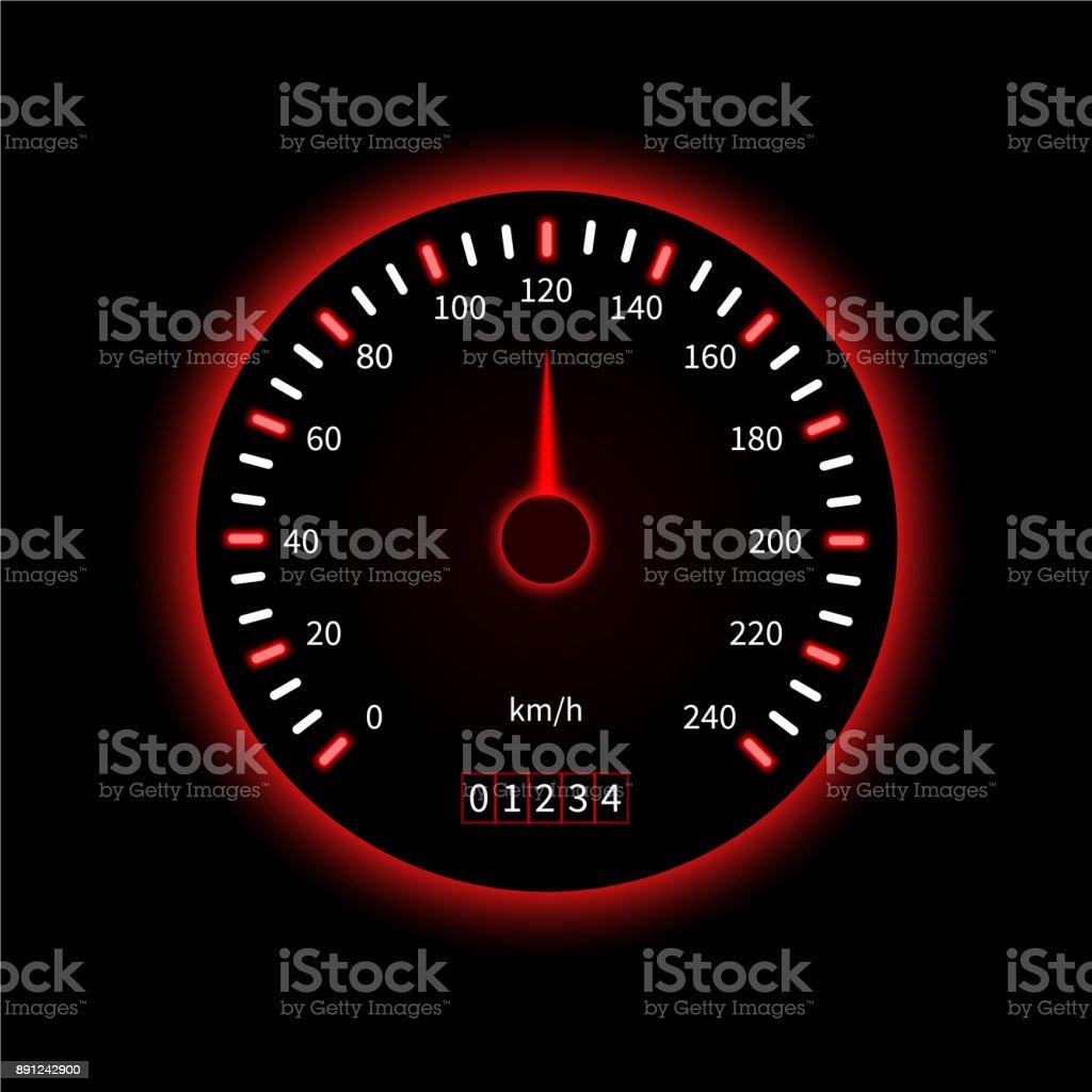 Vector Car Speedometer Stock Illustration - Download Image Now