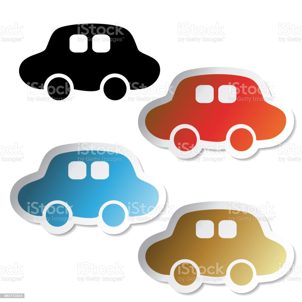 Vector car symbols, delivery stickers royalty-free vector car symbols delivery stickers stock vector art & more images of adhesive note