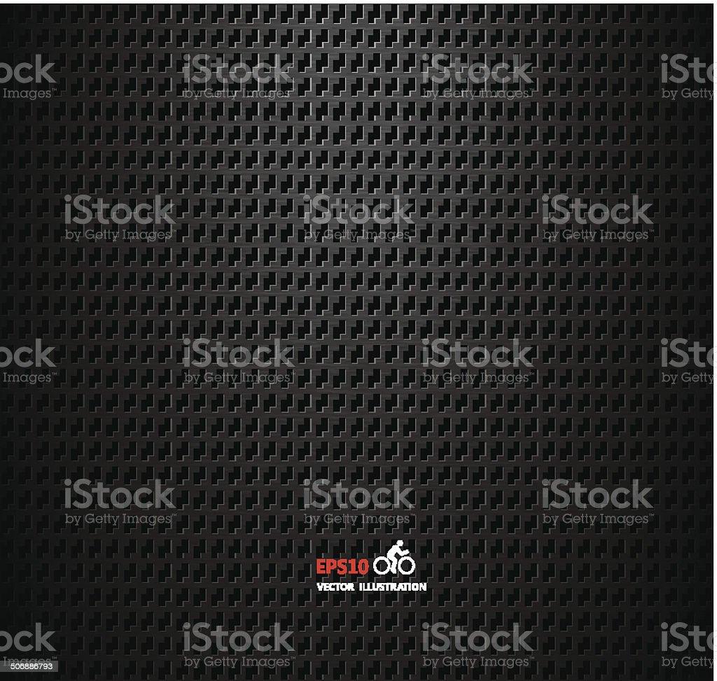 Vector carbon fiber and dark grey background royalty-free stock vector art