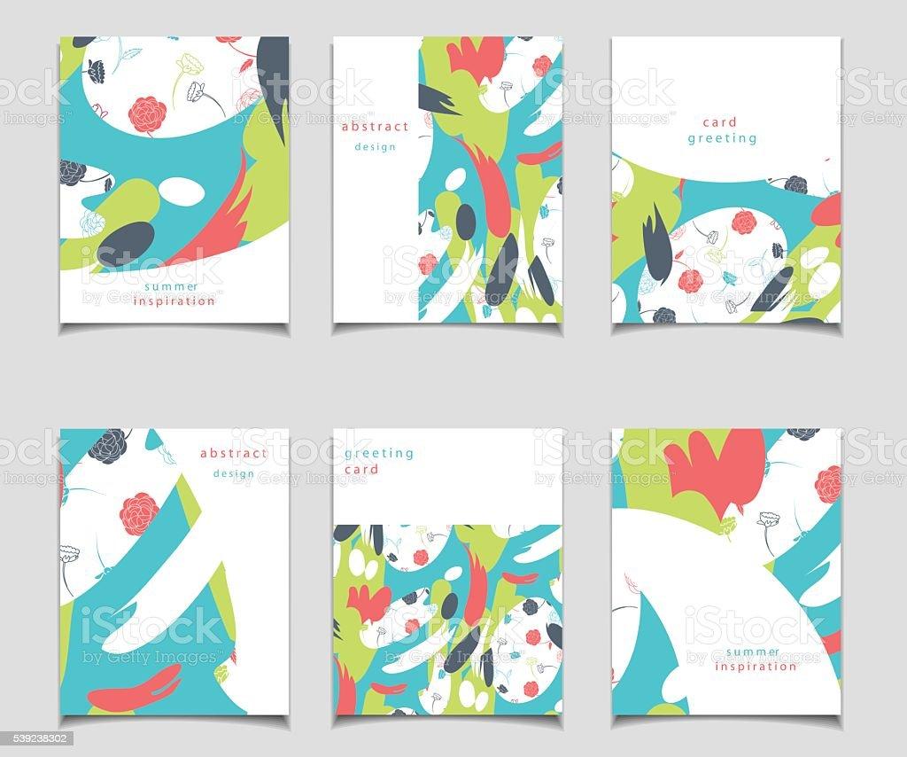 Vector de abstracto tarjeta collection con diseño. ilustración de vector de abstracto tarjeta collection con diseño y más banco de imágenes de abstracto libre de derechos