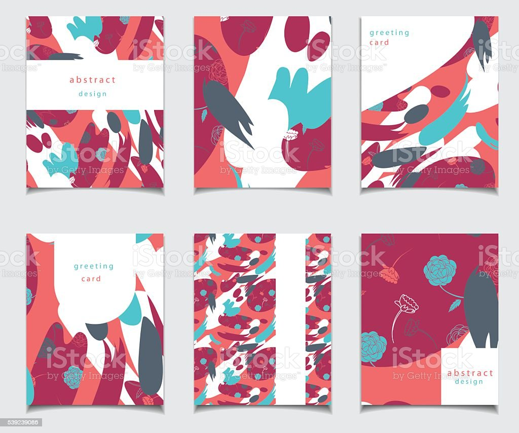 Vector card collection with abstract design. royalty-free vector card collection with abstract design stock vector art & more images of abstract