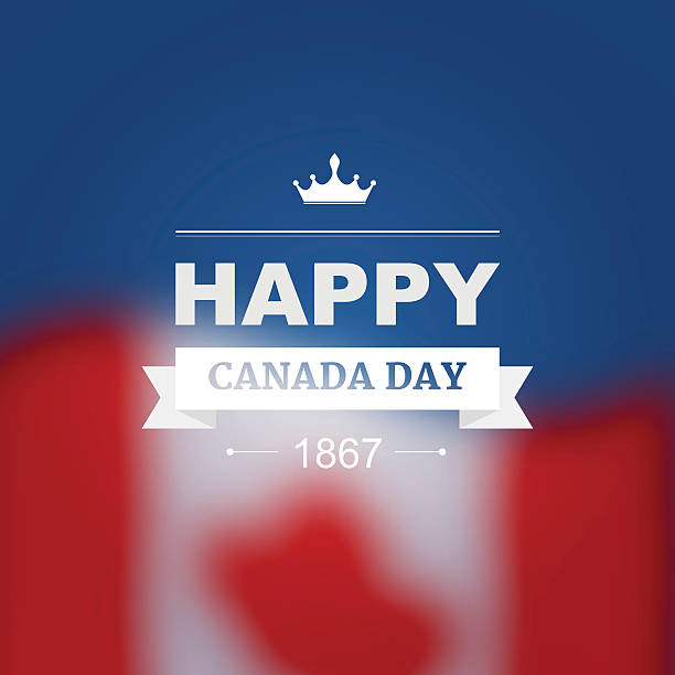 vector card for canada day - canada day stock illustrations