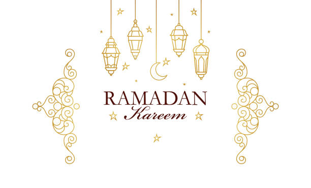 vector card for ramadan kareem greeting. - arab stock illustrations