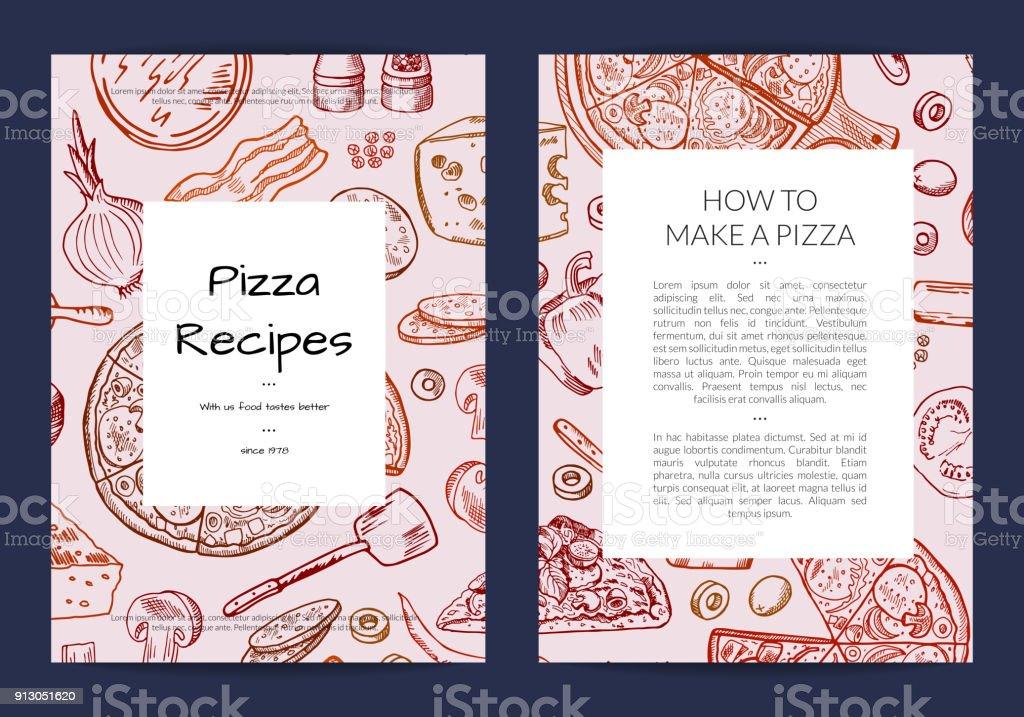 Vektorkarte Oder Broschüre Vorlage Für Pizza Restaurant Stock Vektor ...