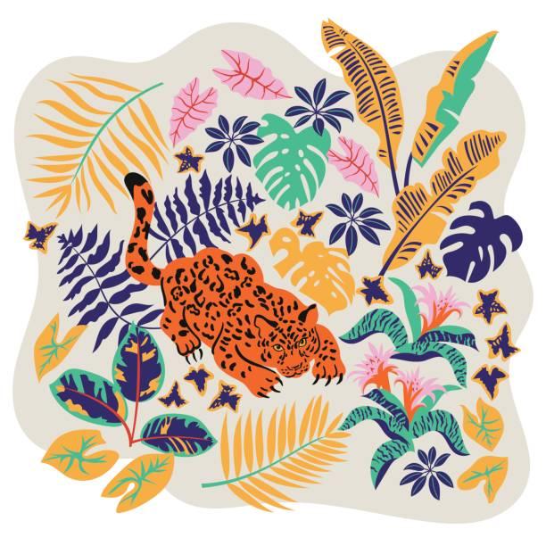 vector card - jaguar stock illustrations