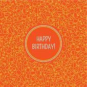 Vector card with birthday