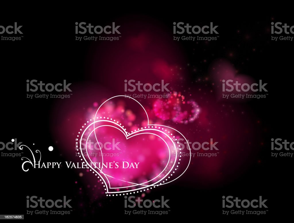 Vector Card with hearts on blurred background. royalty-free stock vector art