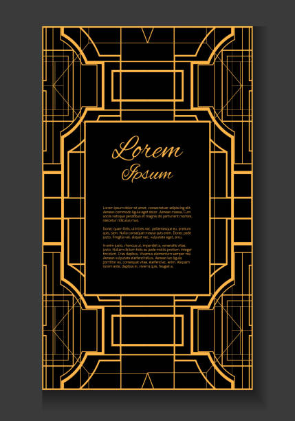 Royalty free gatsby invitation clip art vector images vector card with place for your text vector art illustration stopboris Image collections