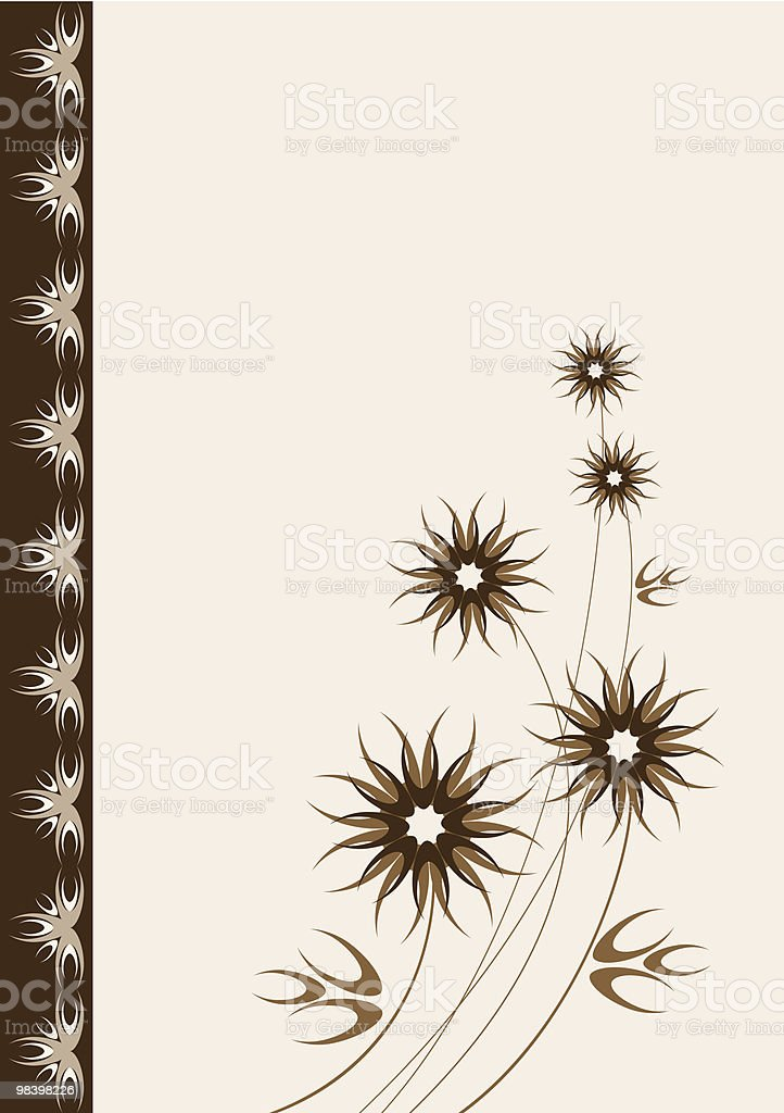 Vector card with stylized brown flowers royalty-free vector card with stylized brown flowers stock vector art & more images of abstract