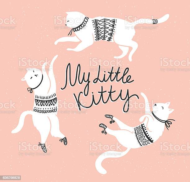 Vector card with white cats and lettering my little kitty vector id636298828?b=1&k=6&m=636298828&s=612x612&h=smtulygdapesr9x2d4uottn2yi9dppmrugmimelltla=