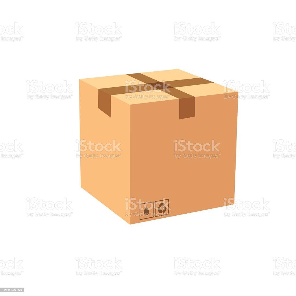 Vector cardboard box - Illustration