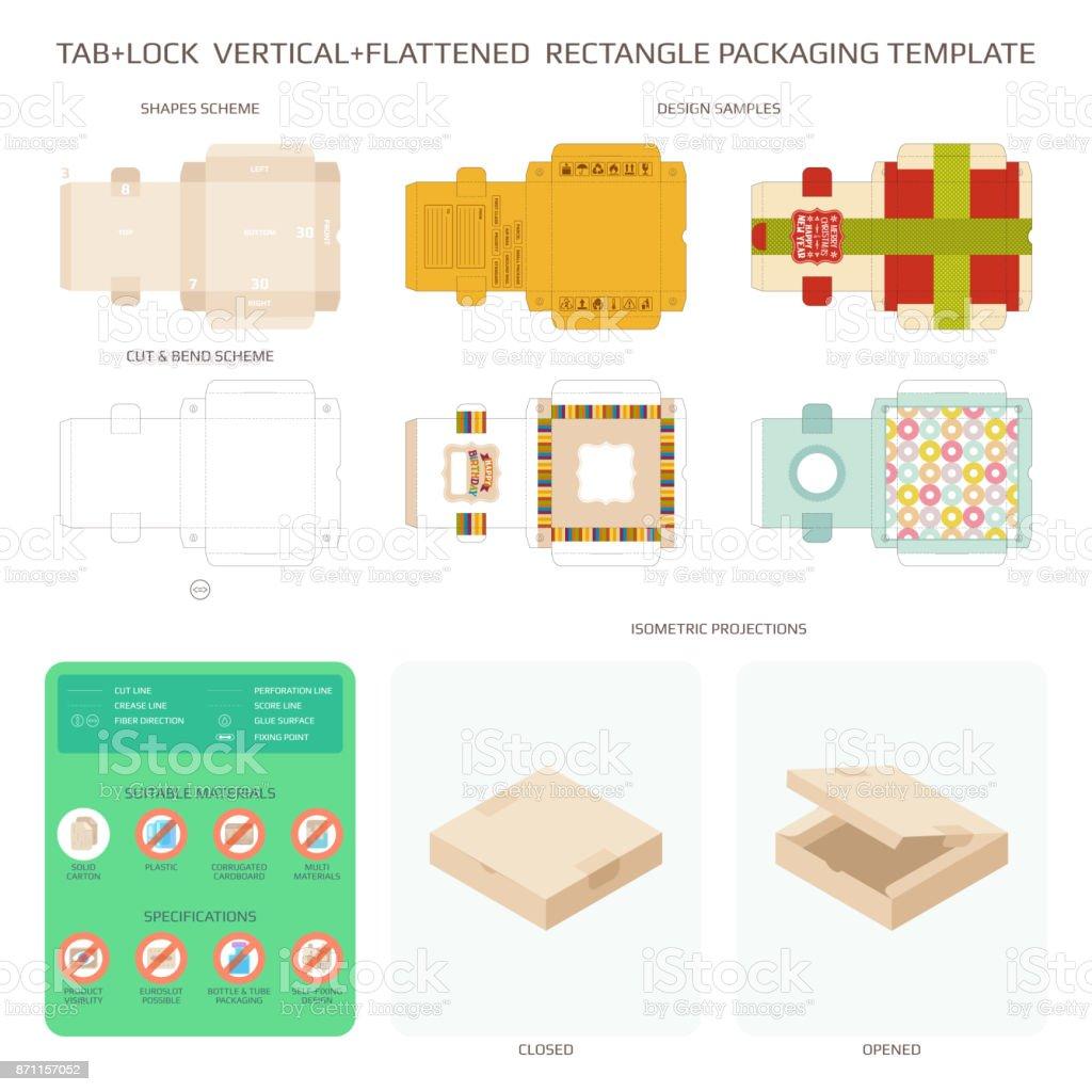 Cartulina Plantillas De Diseño Y Packaging Vector Set - Arte ...