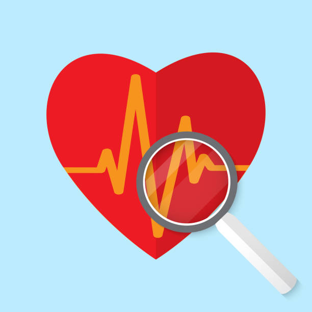Vector cardiogram or heart rhythm medical icon. vector art illustration