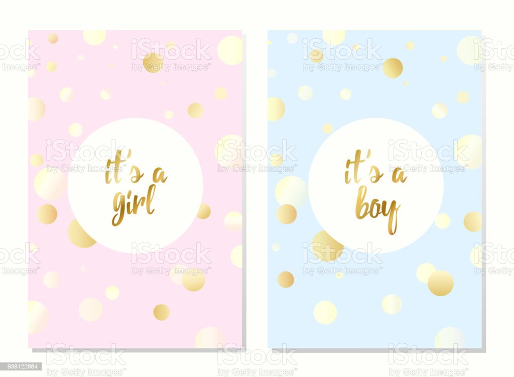 Vector Cards For Baby Shower Stock Vector Art More Images Of