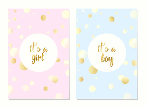 vector cards for baby shower - baby shower stock illustrations, clip art, cartoons, & icons