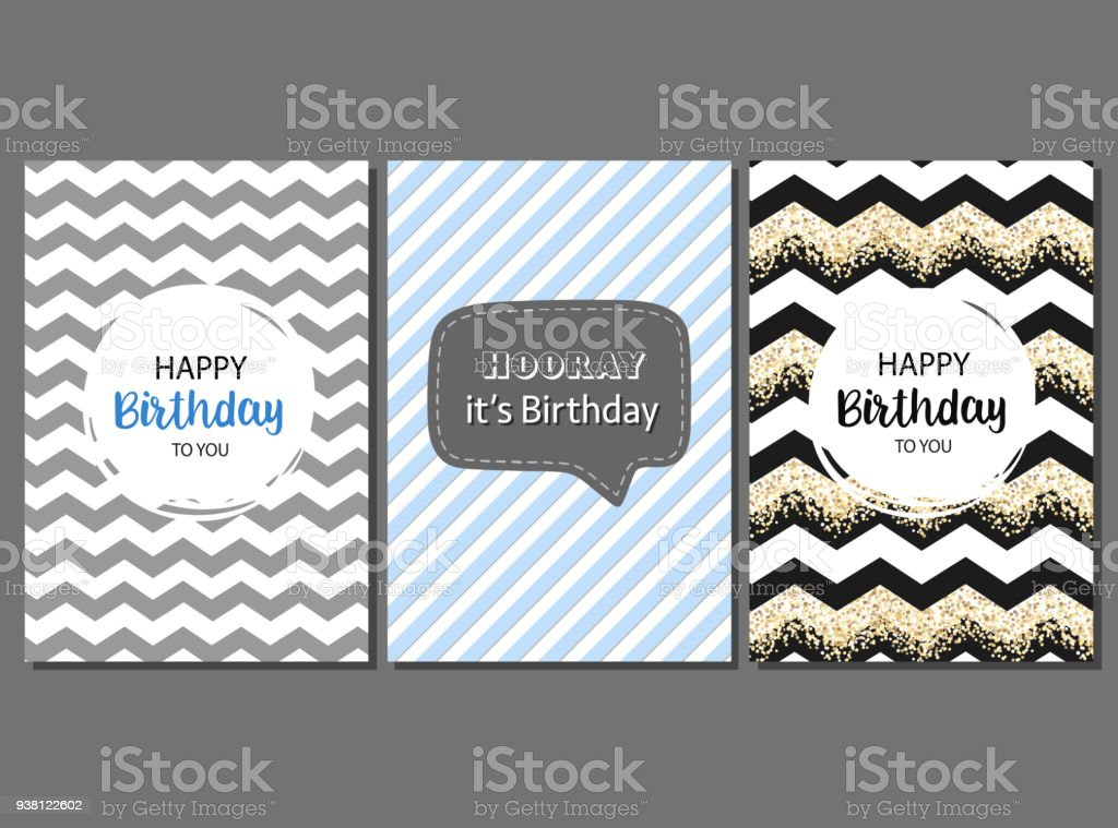 Vector Cards For Men Happy Birthday Greeting