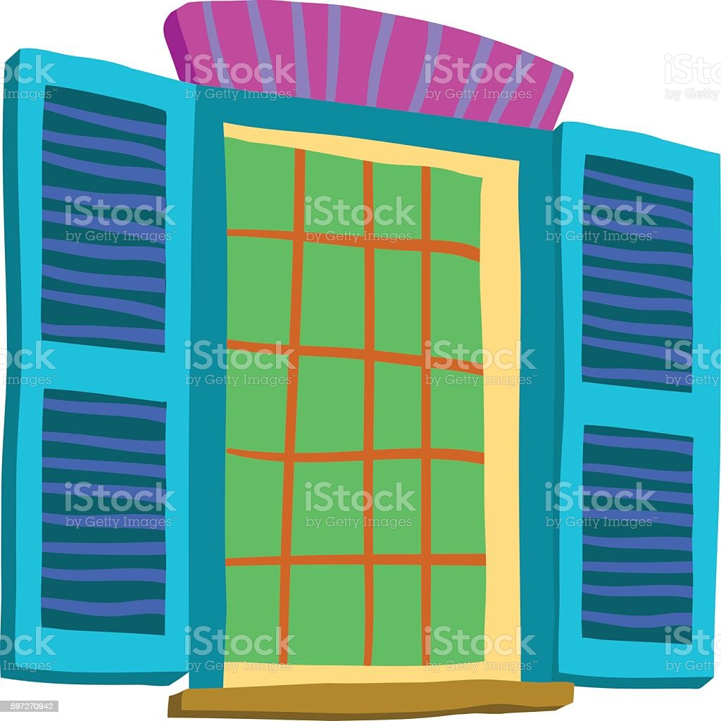 Vector cartoon abstract window icon. vector art illustration