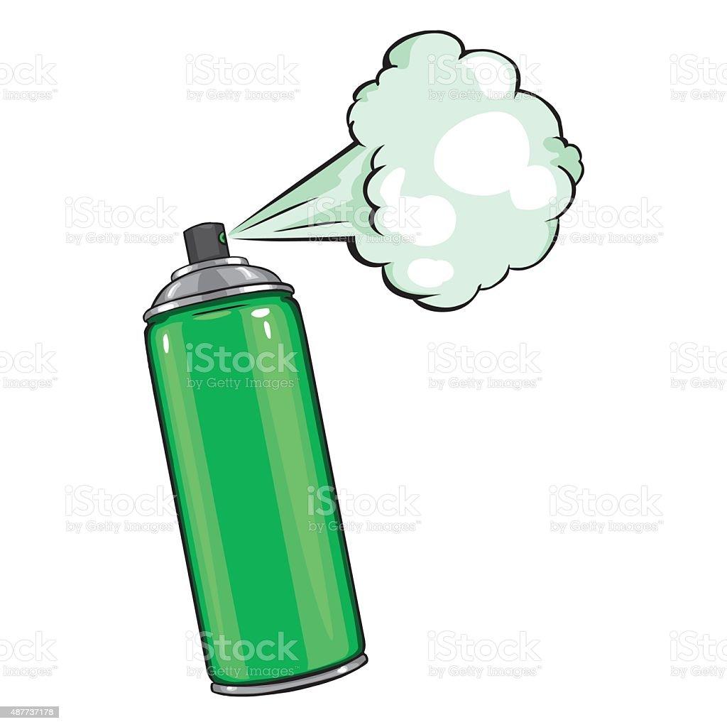 Vector de dibujos animados con aerosol de pintura verde - Pintura con spray ...