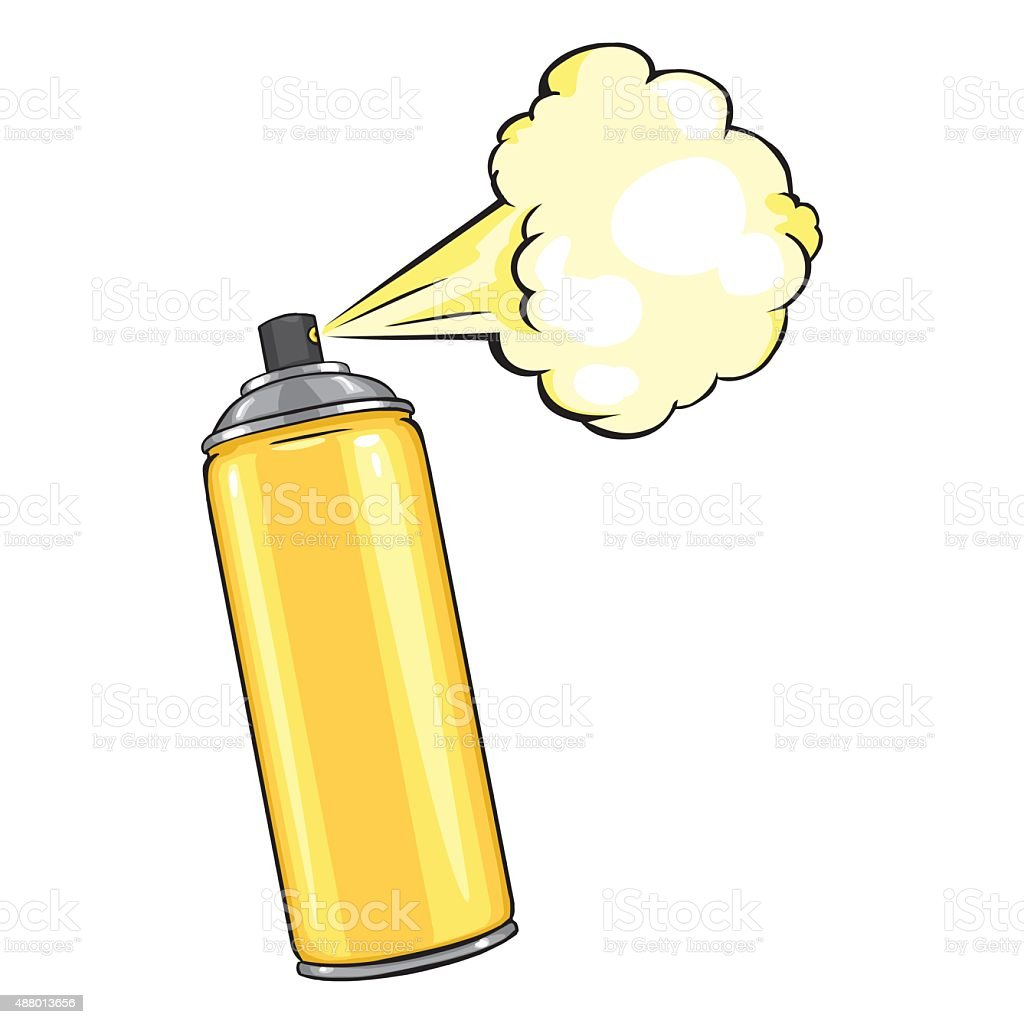 lata de aerosol de dibujos animados de graffiti clip art