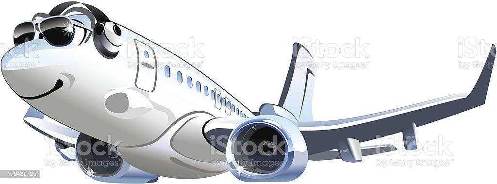 Vector Cartoon Airliner royalty-free stock vector art