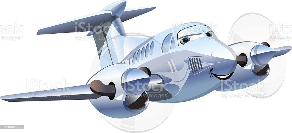 Vector Cartoon Airplane royalty-free stock vector art