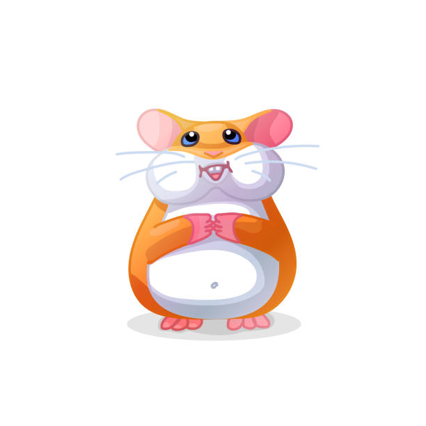 vector cartoon tiere clipart - hamsterhaus stock-grafiken, -clipart, -cartoons und -symbole