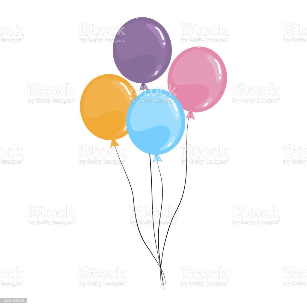 vector cartoon luftballons isoliert auf einem weißen