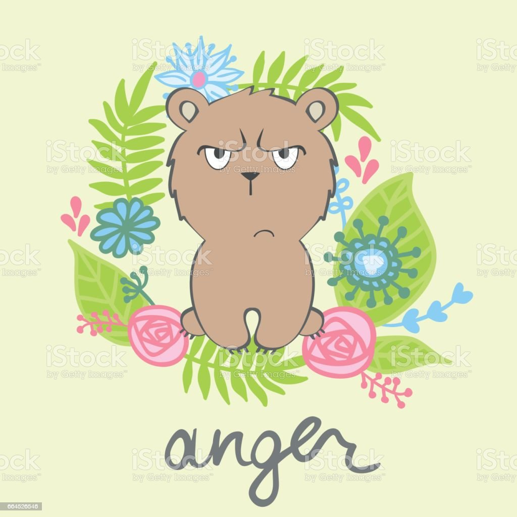vector cartoon bear royalty-free vector cartoon bear stock vector art & more images of anger